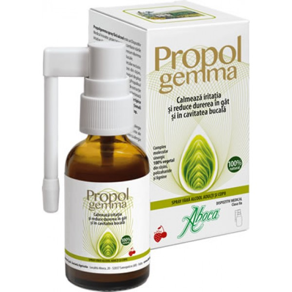 Propolgemma spray de gat - fara alcool (adulti si copii) Aboca - 30 ml