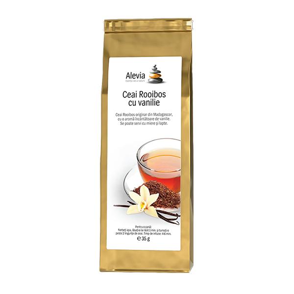 Ceai Rooibos cu vanilie Alevia - 35 g