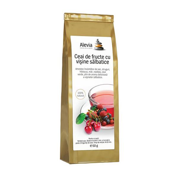 Ceai de fructe cu visine salbatice Alevia - 35 g
