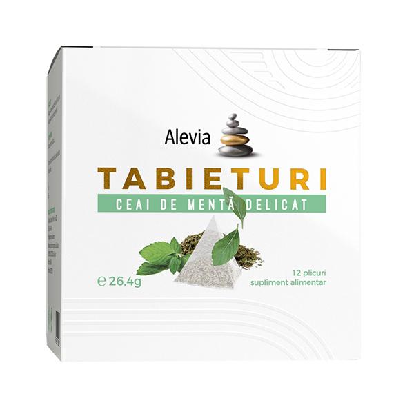 Ceai de menta delicat Tabieturi (12 plicuri piramida) Alevia - 26.4 g