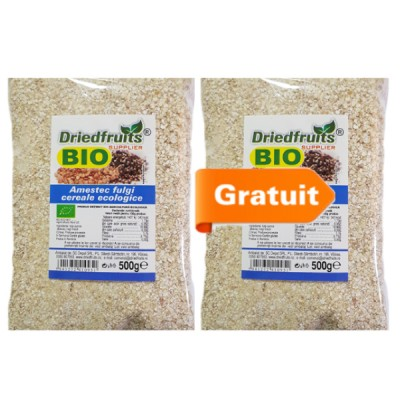 Amestec fulgi cereale BIO - 500 g ( Pachet 1+1 gratis )