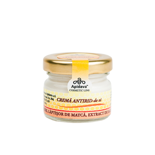 Crema antirid de zi cu miere, laptisor de matca si extract de salcam Apidava - 30 ml