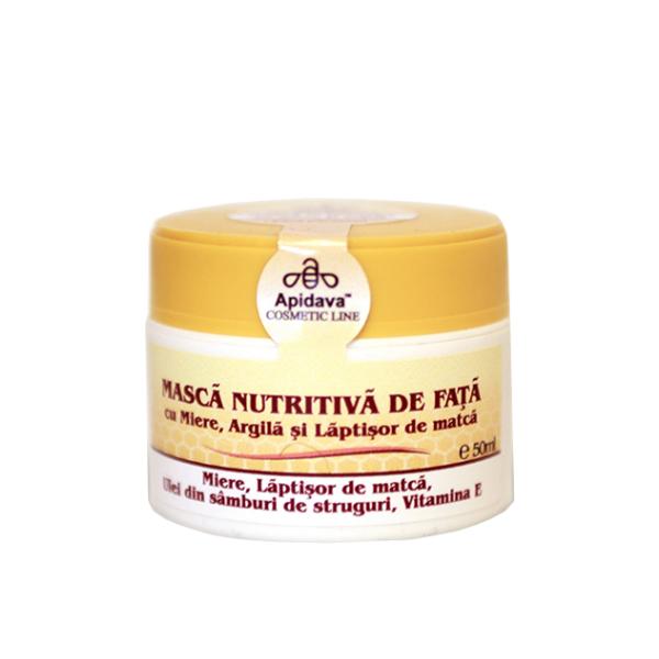 Masca nutritiva cu miere, argila si laptisor de matca Apidava - 50 ml