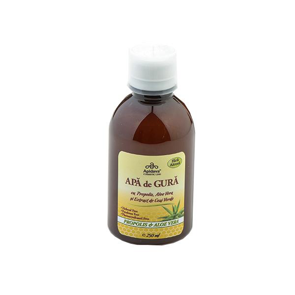 Apa de gura cu propolis, aloe vera si extract de ceai verde Apidava - 250 ml