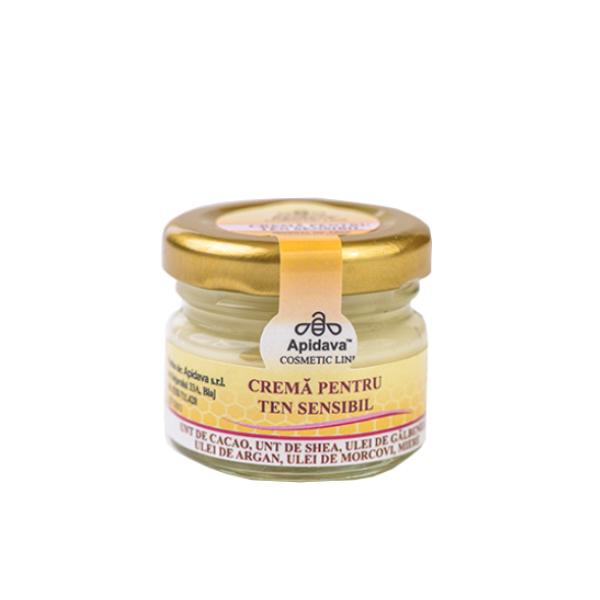 Crema de fata pentru ten sensibil cu unt cacao & unt shea Apidava - 30 ml