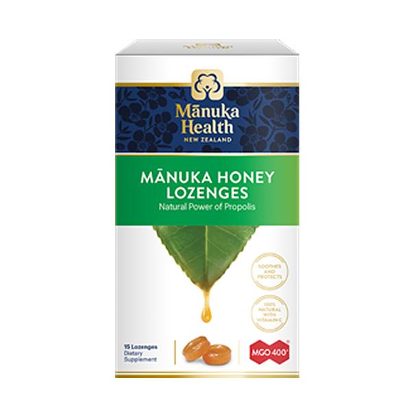 Bomboane Manuka MGO (400+) cu propolis Manuka Health - 65 g