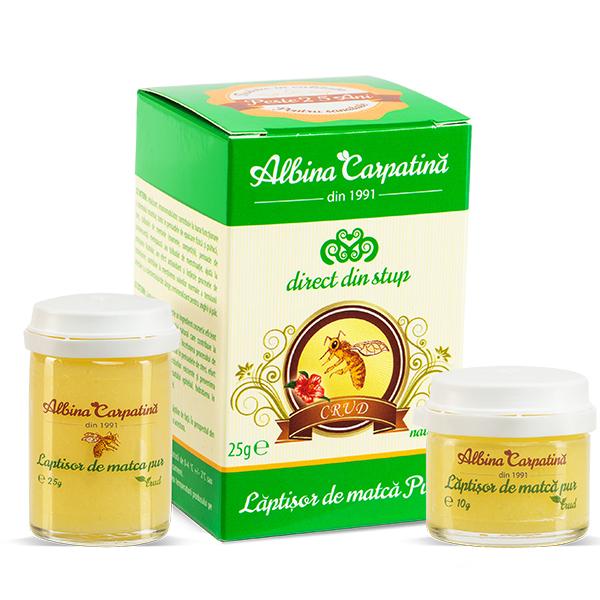 Laptisor de matca pur 25 g + Laptisor de matca pur 10 g (Pachet) Albina Carpatina