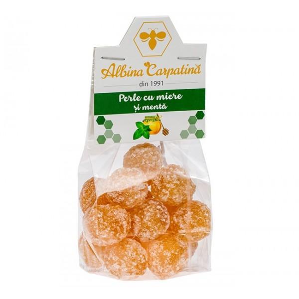 Perle cu miere si menta Albina Carpatina - 100 g