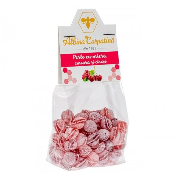 Perle cu miere, cirese si zmeura Albina Carpatina - 100 g