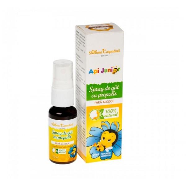 Spray de gat Api Junior cu propolis (fara alcool) APITERRA - 20 ml