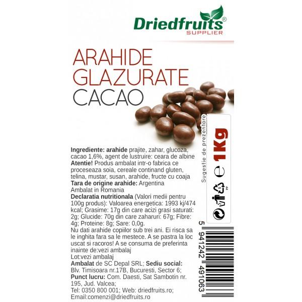 Arahide glazurate cacao Driedfruits - 1 kg