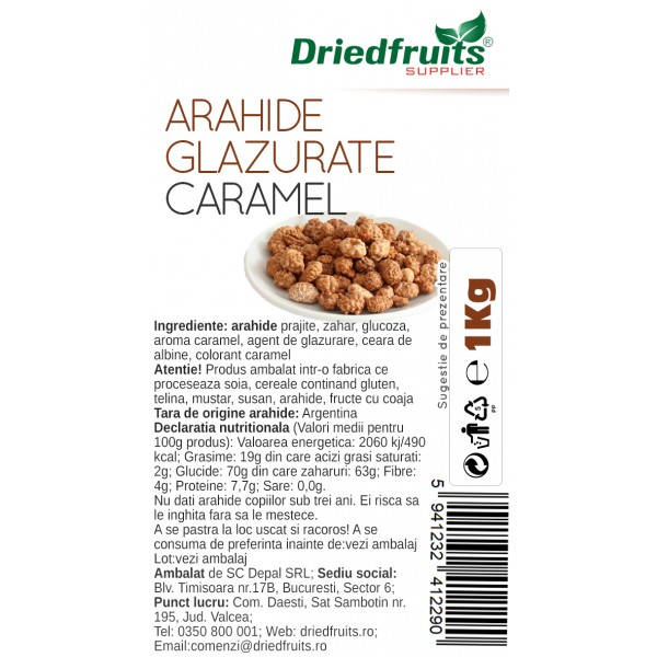 Arahide glazurate caramel Driedfruits - 1 kg