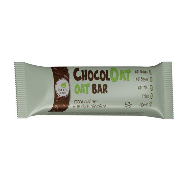 Baton ovaz ciocolata neagra cu gust de Jerbou (fara gluten, fara zahar) Free Bakery - 50 g