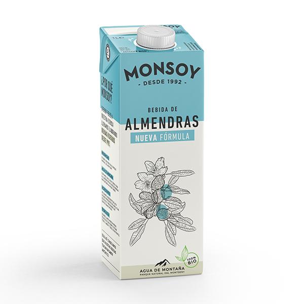 Bautura migdale (fara gluten) BIO Monsoy - 1 litru