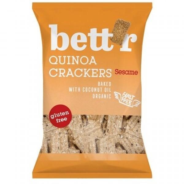 Crackers cu quinoa si susan (fara gluten) BIO Bettr - 100 g