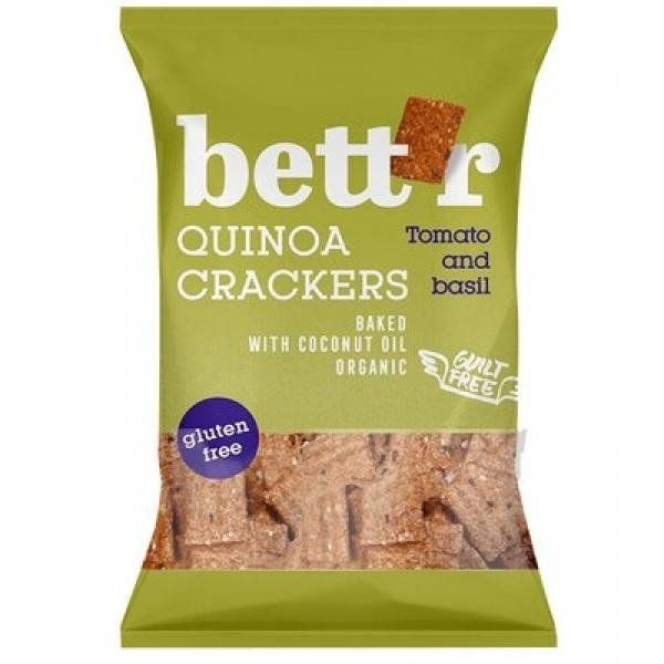 Crackers cu quinoa, rosii si busuioc (fara gluten) BIO Bettr - 100 g