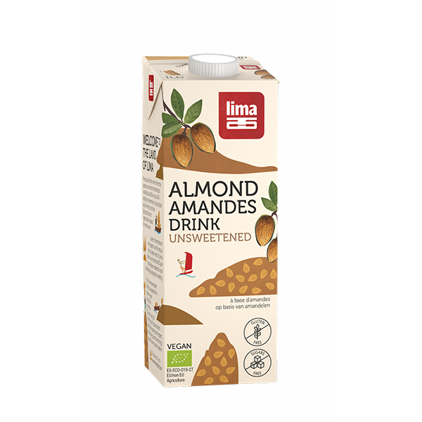 Bautura vegetala de migdale (fara gluten) BIO Lima - 1 litru