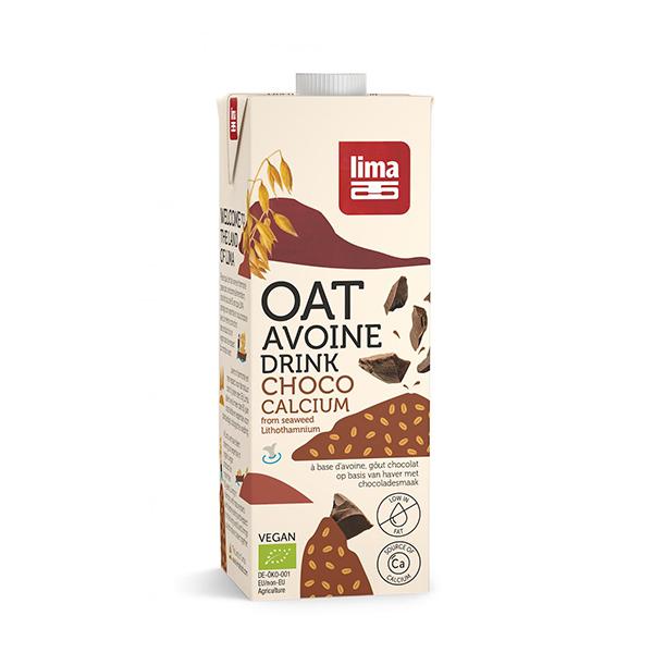 Bautura vegetala de ovaz cu ciocolata si calciu BIO Lima - 1 litru