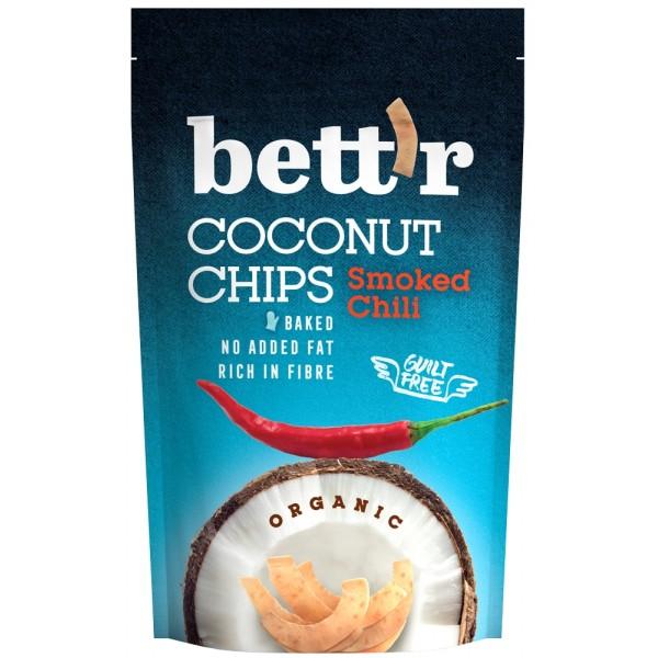 Chips de cocos cu chilli BIO Bettr - 70 g