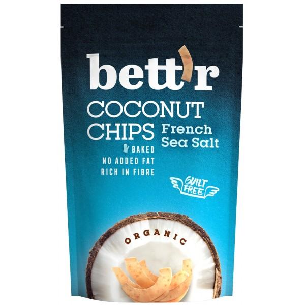Chips de cocos cu sare BIO Bettr - 70 g