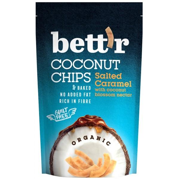 Chips de cocos si caramel sarat BIO Bettr - 70 g
