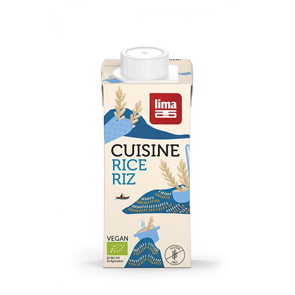 Crema (smantana vegetala) din orez (fara gluten, fara lactoza) BIO Lima - 200 ml