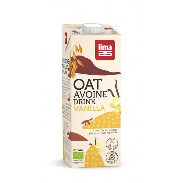 Bautura vegetala de ovaz si vanilie BIO Lima - 1 litru