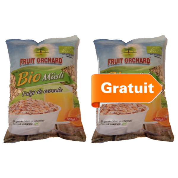 Fulgi cereale (baza muesli) BIO - 500 g (Pachet 1+1 gratis)