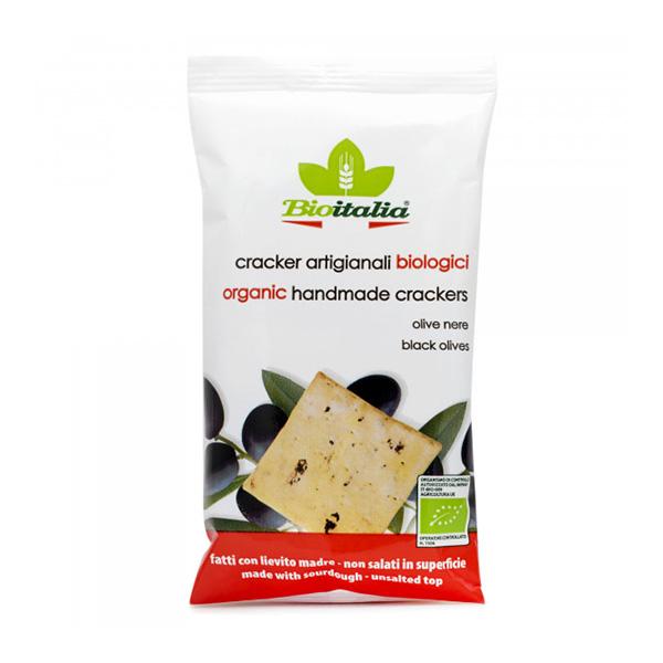 Crackers cu masline negre BioItalia BIO - 250 g