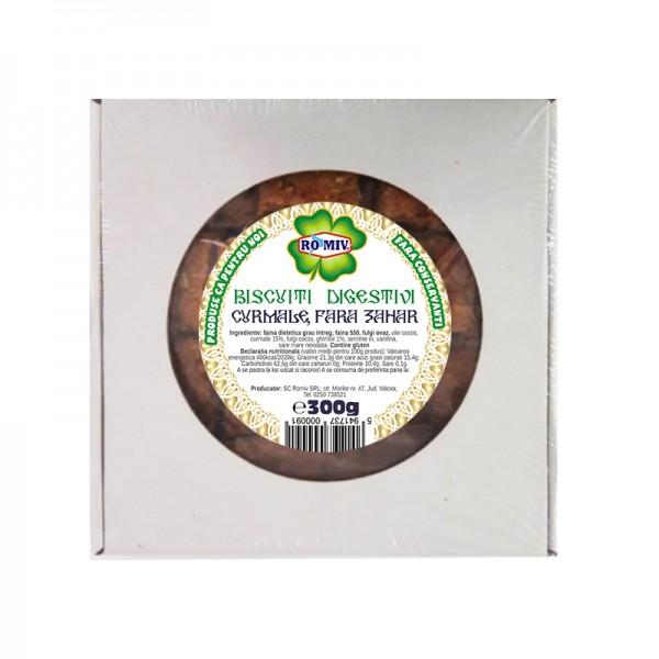 Biscuiti digestivi - curmale (fara zahar) Romiv - 300 g