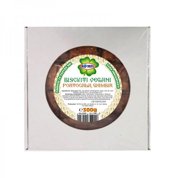 Biscuiti vegani cu aroma portocale si ghimbir Romiv - 300 g