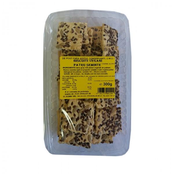 Biscuiti vegani cu patru seminte Romiv - 300 g