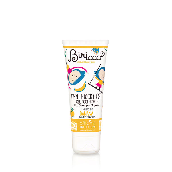 Pasta de dinti banane (gel, fara fluor) pt copii - BIO Birrico - 75 ml