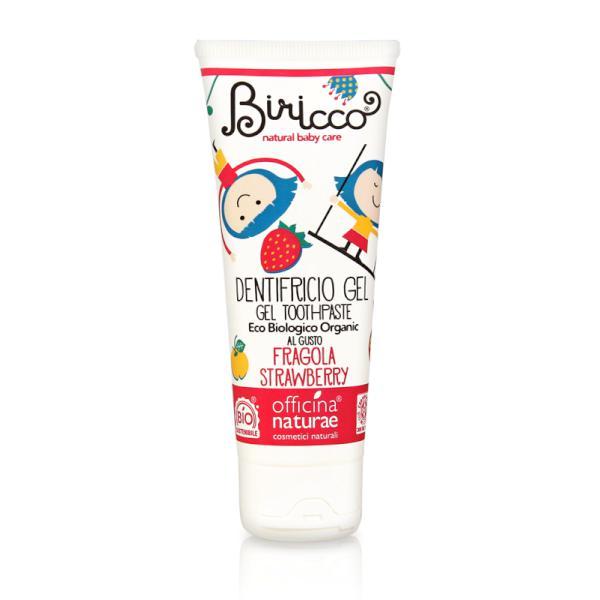 Pasta de dinti capsuni (gel, fara fluor) pt copii - homeopata BIO Birrico - 75 ml