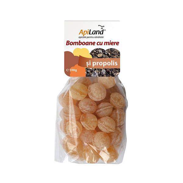 Bomboane cu miere si propolis Apiland - 100 g