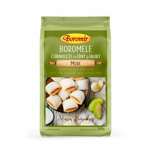 Cornulete boromele cu unt, iaurt si gem de mere Boromir - 250 g
