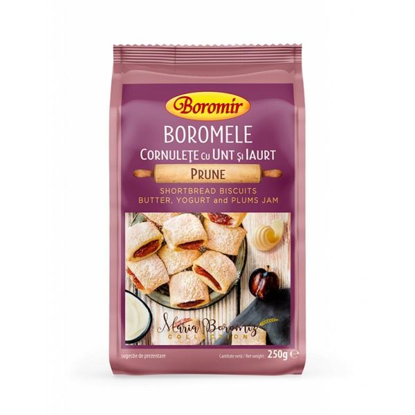 Cornulete boromele cu unt, iaurt si gem de prune Boromir - 250 g