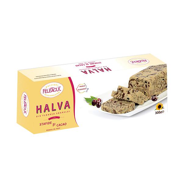 Halva stafide si cacao Feleacul - 300 g