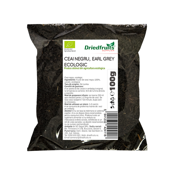 Ceai negru Earl Grey BIO Driedfruits - 100 g
