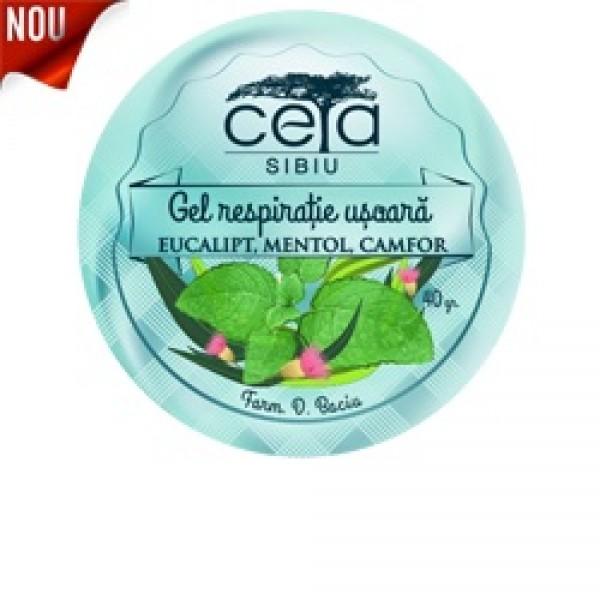 Gel respiratie usoara cu eucalipt, mentol si camfor Ceta Sibiu - 50 ml