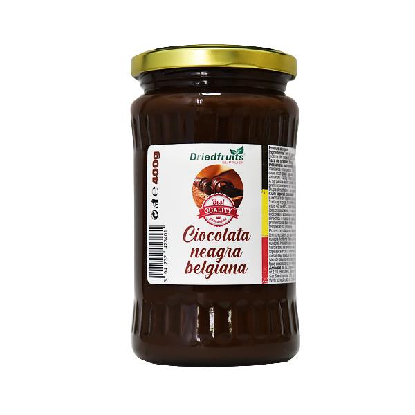 Ciocolata neagra belgiana (borcan) - 400 g
