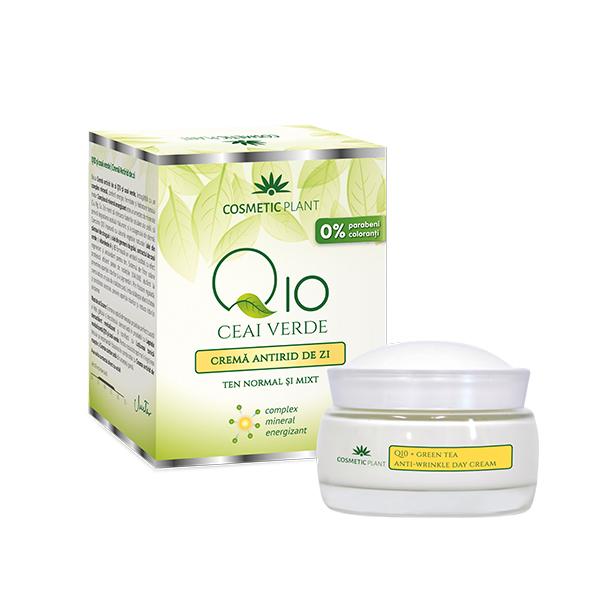 Crema antirid de zi (Q10 & ceai verde) Cosmetic Plant - 50 ml