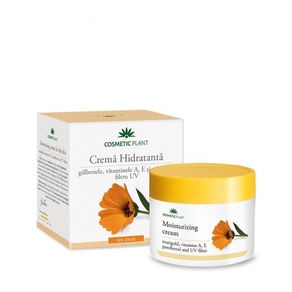 Crema hidratanta de fata cu galbenele, vitamina A, E si pantenol Cosmetic Plant - 50 ml