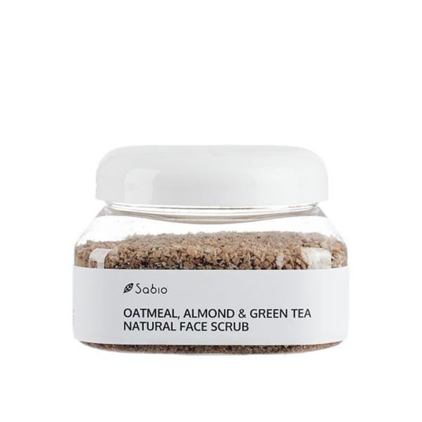 Exfoliant facial cu ovaz, migdale & ceai verde (scrub) Sabio Cosmetics - 236 ml