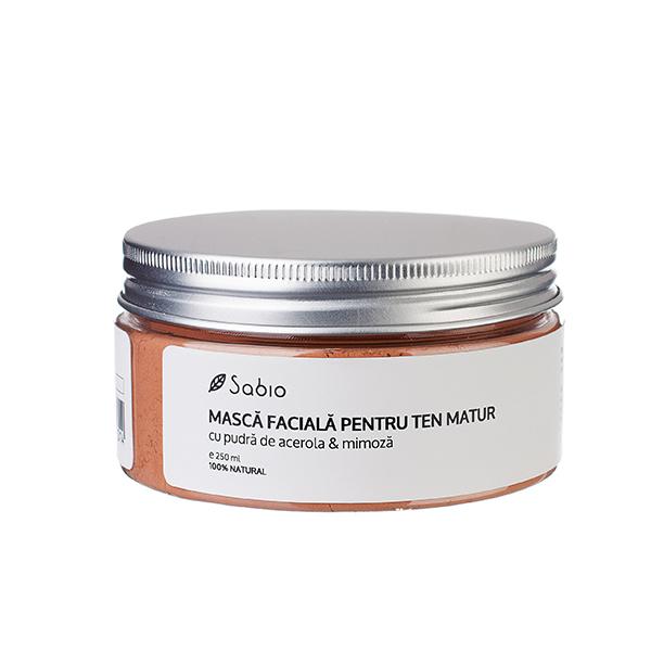 Masca faciala cu pudra de acerola & mimoza (ten matur) Sabio Cosmetics - 250 ml
