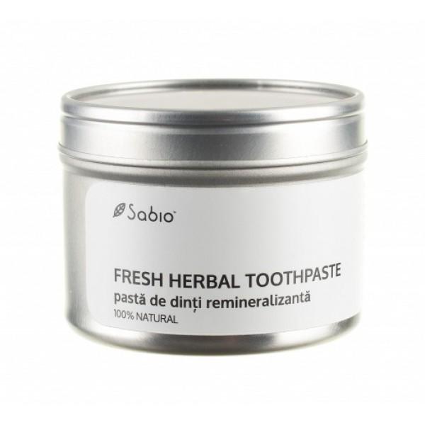 Pasta de dinti remineralizanta (fresh herbal) SABIO COSMETICS - 118 ml