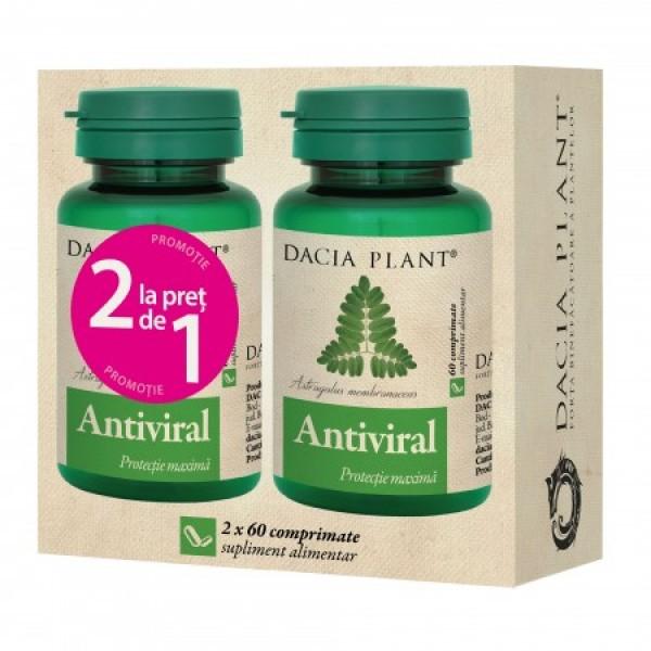 Antiviral (Pachet 1+1 gratis) Dacia Plant - 2 x 60 comprimate