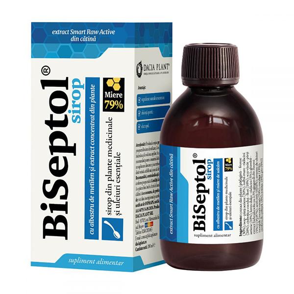 BiSeptol sirop cu albastru de metilen Dacia Plant - 200 ml