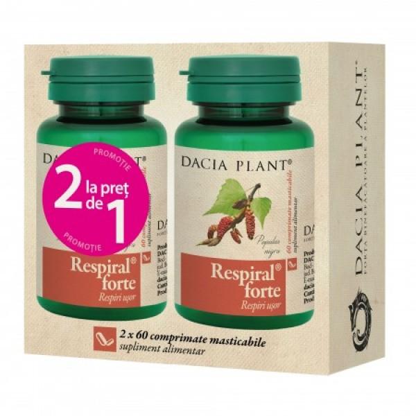 Respiral forte (Pachet 1+1 gratis) Dacia Plant - 2 x 60 comprimate
