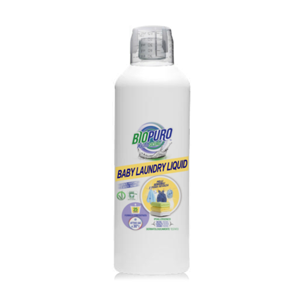 Detergent hipoalergen pentru hainutele copiilor (fara parfum, fara enzime) ECO Biopuro - 1 litru